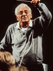 Leonard Bernstein at age 71 in July 1990. He would