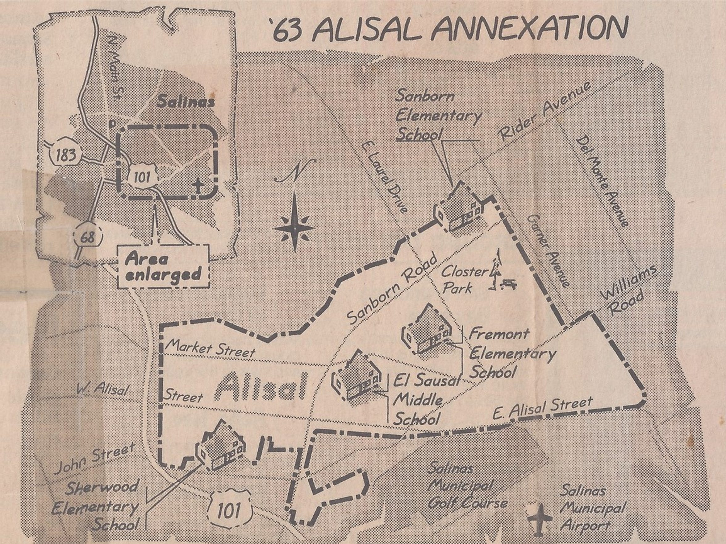Alisal annexation map from 1963.