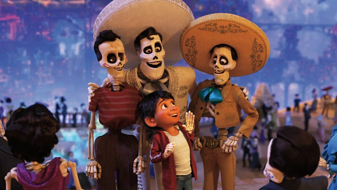 """Miguel journeys through the Land of the Dead in """"Coco."""""""