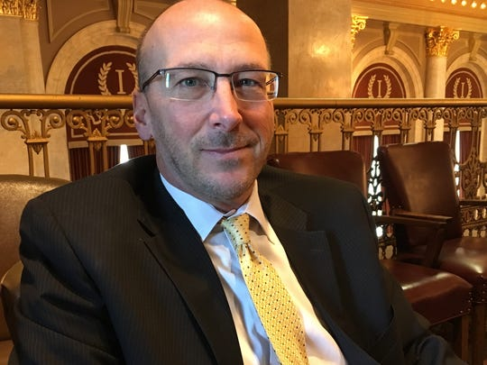 State Rep. Chip Baltimore, R-Boone, at the Iowa Capitol on Jan. 25, 2018, about a week after he was arrested