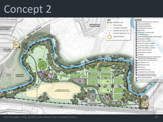 Concept 2 for a new park in Franklin.
