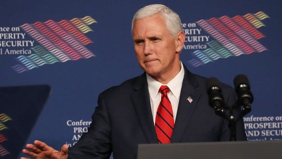 Vice President Mike Pence speaks during the Conference