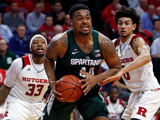 Spartans forward Nick Ward scored just three points in MSU's 62-55 victory over Rutgers on Tuesday in Piscataway, N.J.