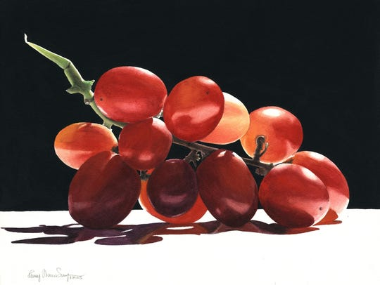 """""""A Bunch of Grapes"""" reflects Penny Thomas Simpson's"""