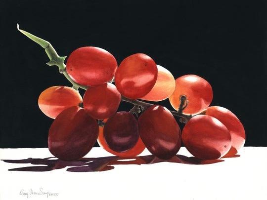 """""""A Bunch of Grapes"""" reflects Penny Thomas Simpson's love of dramatic light."""