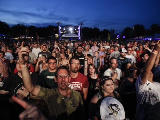 Music fans rock to headliners Rise Against on Wednesday