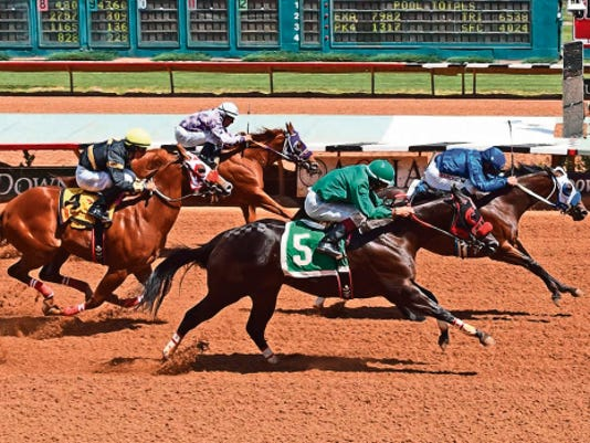 Fastest-qualifier Get Down Earlene will race in the 71,730 John Deere Ruidoso Juvenile Challenge Saturday.