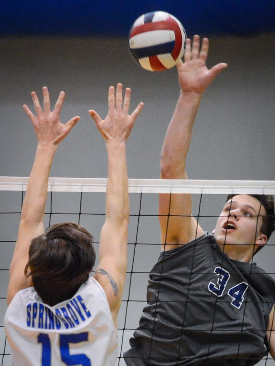 Spring Grove at Dallastown boys' volleyball