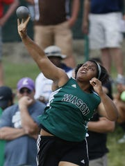 Mason's Amaya King competes in the OHSAA State Finals