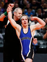 Kasson-Mantorville's Patrick Kennedy, an Iowa commit, reached the finals of the Super 32 Challenge this past weekend.