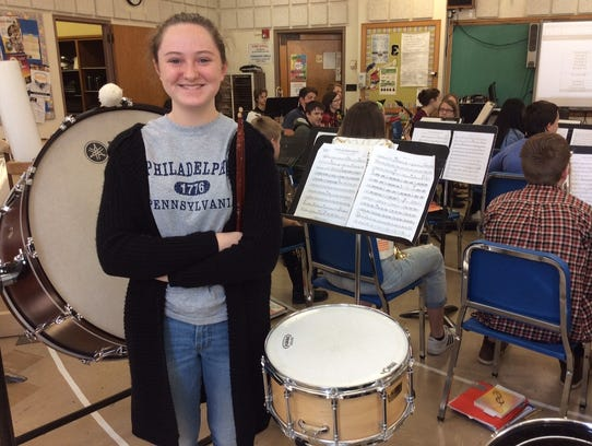 Sophia Winowiski was selected as a band/orchestra alternate
