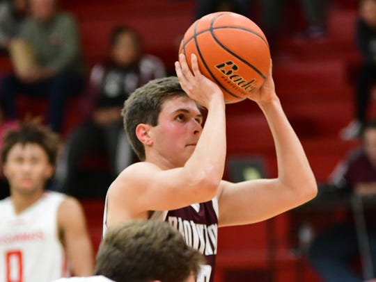 Brownwood's Blake Bronniman shoots a free throw during