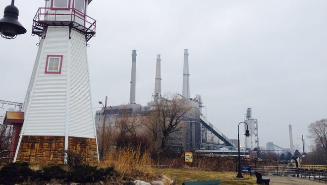 The DTE River Rouge power plant sits adjacent to Belanger Park in the city of River Rouge. The Michigan Department of Environmental Quality has identified the coal-fired power plant as one of the leading contributors to the area being out of compliance with federal standards for sulphur dioxide pollution.