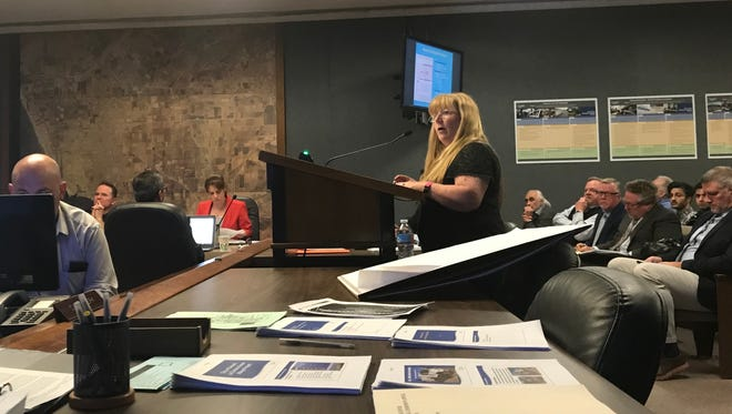 Oxnard resident Julie Kalbacher filed an appeal to a Planning Commission decision to approve a car wash on Fifth Street.