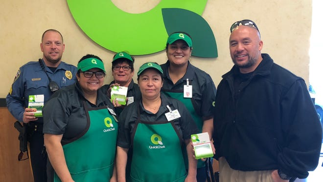 """The Hackettstown Police Department has joined with QuickChek to issue """"positive tickets"""" to youngsters."""