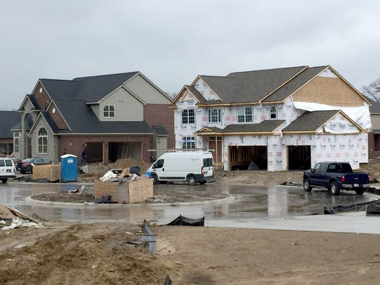 Housing construction taking place on the former Links