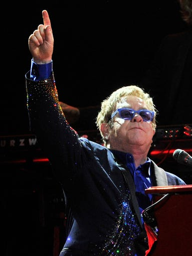Elton John closes out the 13th Bonnaroo Music  & Arts Festival on Sunday, June 15, in Manchester, Tenn.