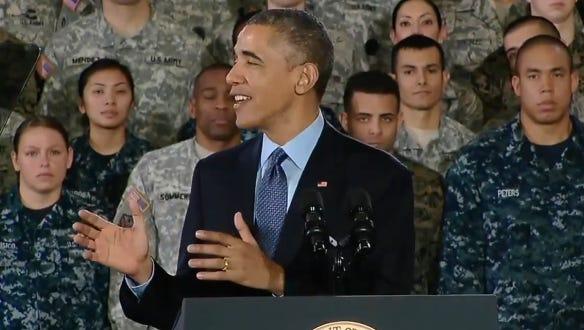 President Barack Obama at Joint Base McGuire-Dix-Lakehurst.