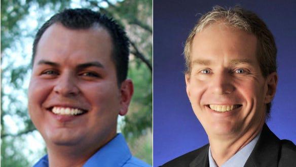 Mark Cardenas (left) and Eric Meyer