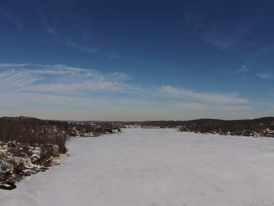 Jody Johnson captures a winter scene in March 2015 over Lake Hopatcong.