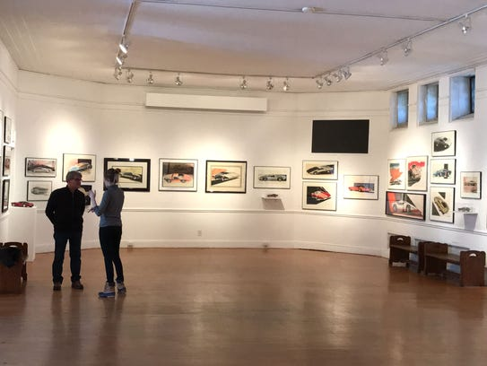 The Corvette Art exhibition at the Scarab Club.