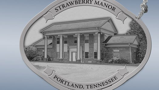 The Portland, Tennessee Chamber of Commerce will have Ronnie McDowell's Strawberry Manor as its 2017 Christmas ornament.