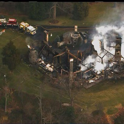 Aftermath of Annapolis mansion fire