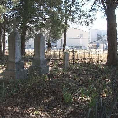 Cemetery on city-owned property, behind northwest corner