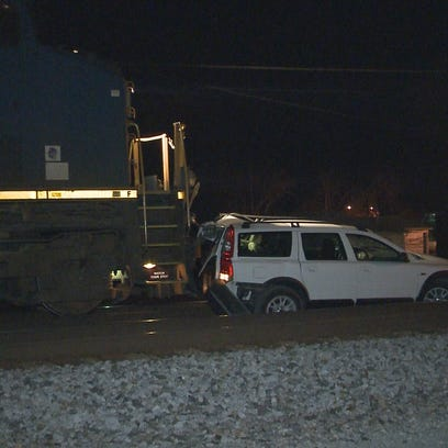 Another train has collided with another car, thankfully