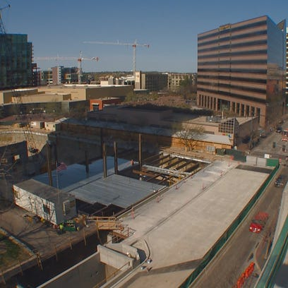Construction work is progressing well on the new transit