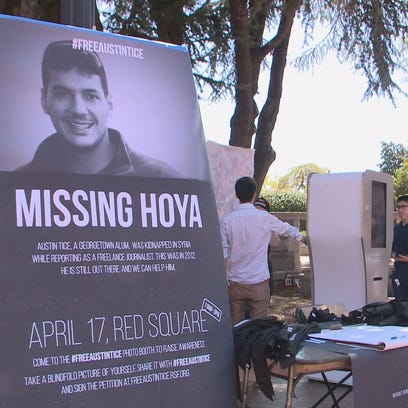 Students raised awareness for a missing Georgetown