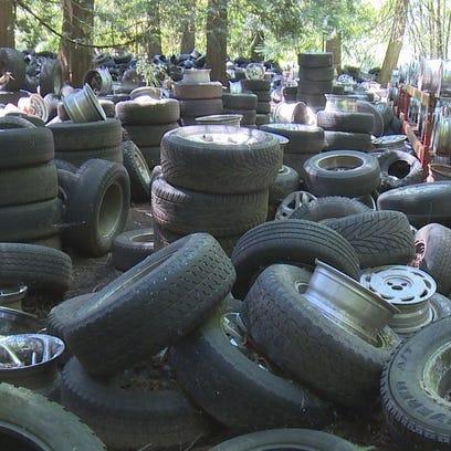 Whatcom County tire pile