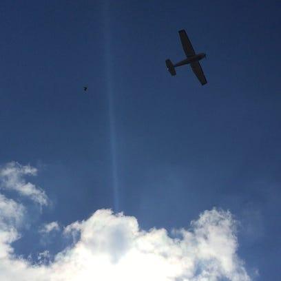 The Phantom Pilot drops live turkeys at Turkey Trot