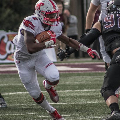 Austin Peay running back Kentel Williams carries the