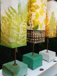 Lamps by Leah Baker, a participant in the Weaverville
