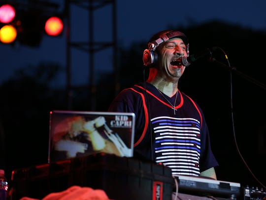 DJ Kid Capri performs during the first night of the Music Heritage Festival at the American Legion Mall in 2014.