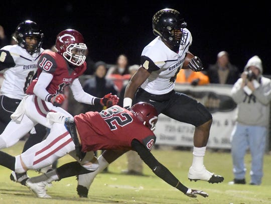 Dyersburg linebacker Christopher Russell is the state's 42nd ranked prospect.