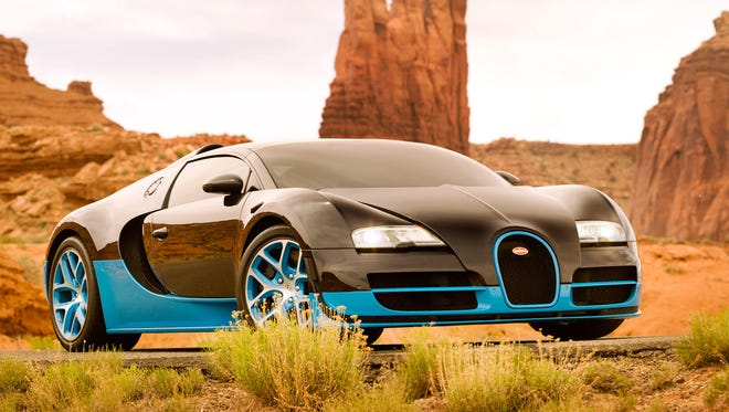 "Bugatti that transforms into the Robot Drift in a scene from the motion picture ""Transformers: Age of Extinction."""