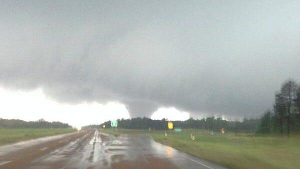 A tornado sited in Winston County near Louisville.