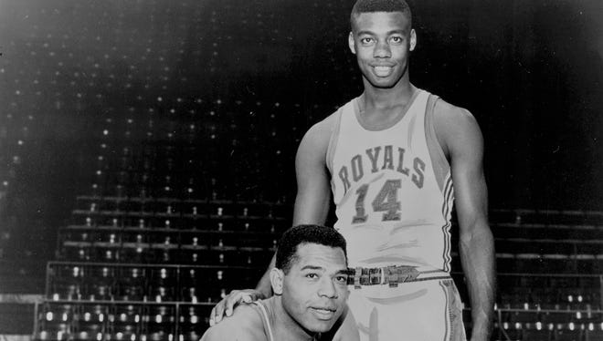 1965 file photo of Wayne Embry and Oscar Robertson of the Cincinnati Royals.