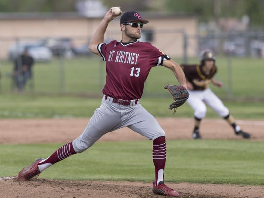 Mt. Whitney's Philip Dinis pitches against Golden West