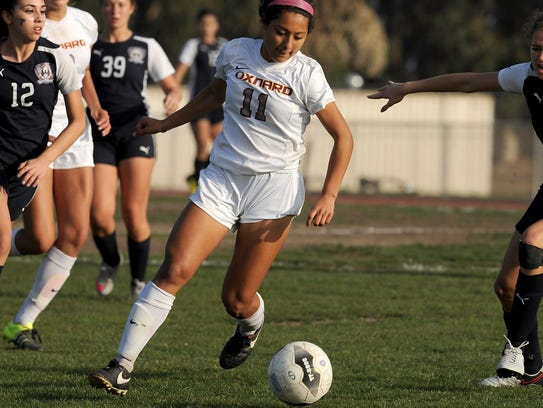 Oxnard High attacker Ashley Cruz already has 12 goals