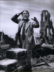 "Raconteur Radio will present a live ""Twilight Zone"" Marathon on New Year's Eve at Old Frankliln Schoolhouse in Metuchen. with recreations of four episodes, including ""Time enough at Last,"" starring Burgess Meredith, pictured."