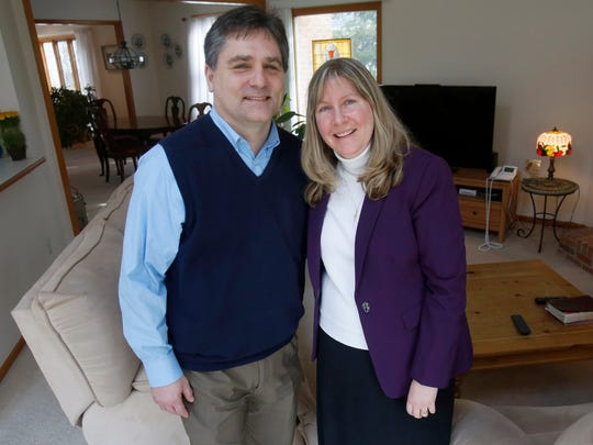 Patrick and Angie Colbeck at their home in Canton on