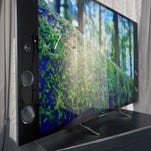 The first thing you're going to notice about the X930C is the huge speakers and Wedge design shape, which is unlike any other TV on the market.