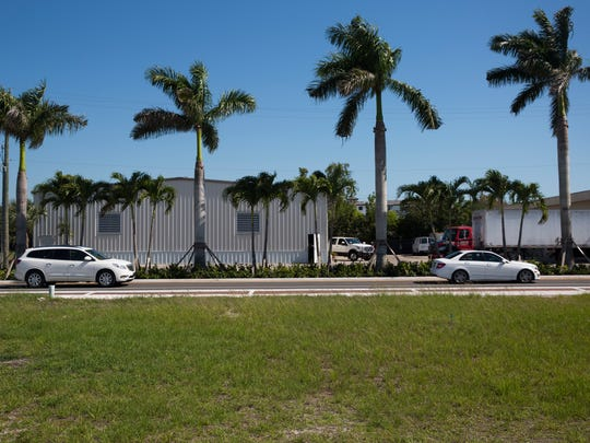 A large lot at 1075 Central Ave. sits vacant along the recently remodeled road Monday, May 8, 2017, in Naples.