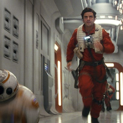This image released by Lucasfilm shows Oscar Isaac