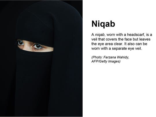 An example of what a niqab looks like.
