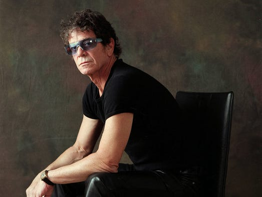 Rock pioneer Lou Reed, who died Sunday at age 71, is renowned for his work with the Velvet Underground and his prolific solo career. | Lou Reed, posing for USA TODAY in 2003.