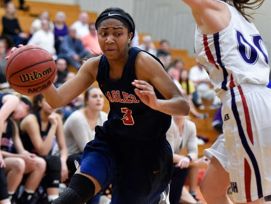 Brentwood Academy's Sydni Harvey (3) was the Division II-AA Miss Basketball winner this past season.